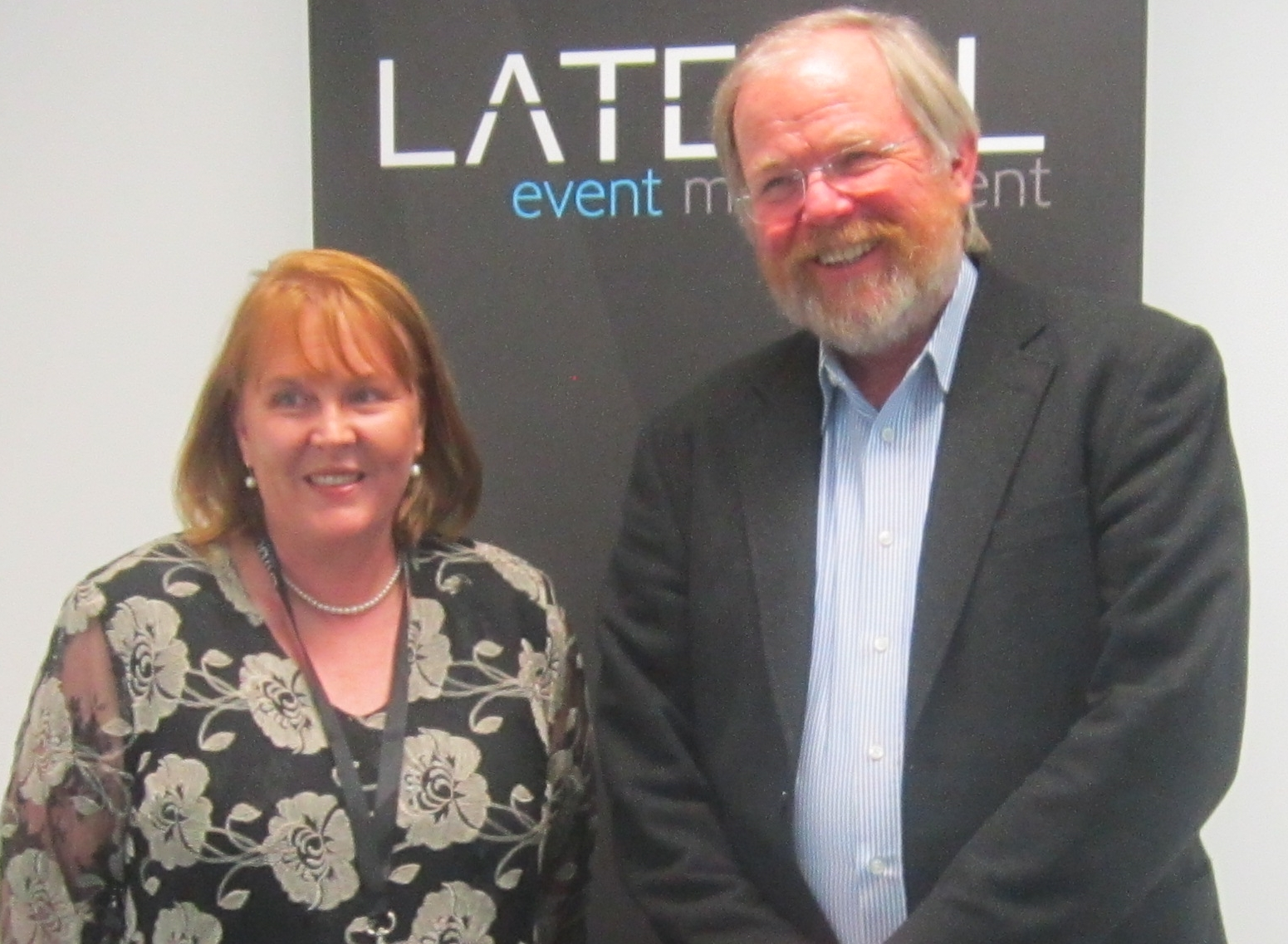With Bill Bryson at his Canberra event, March 2014