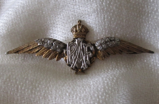 A close up of the sweetheart wings given by Jack Kennedy (one of the subjects in Australia's Few and the Battle of Britain) to his fiancee, Christine in 1940. It is a great honour to own this now, and to keep alive the beautiful story behind it.