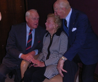 Barry Edstein, Jean Caldwell, Bruce Watson at Clive Caldwell Air Ace launch