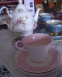 Yet more treasures from my china cabinet. The tea pot, my mother's, in now in my sister in law's