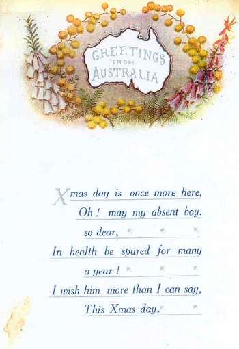 Christmas card from sapper herrods mother dated sunday 29 october christmas card from sapper herrods mother dated sunday 29 october 1916 m4hsunfo